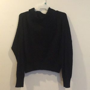 Sweaters - Off Shoulder Black Sweater